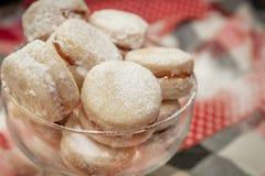 Παραδοσιακά σερβικά μπισκότα βανίλιας στοκ εικόνα