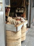 Παραδοσιακό κατάστημα που πωλεί το αμυδρό ατμόπλοιο ποσού στοκ εικόνες
