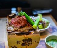Παραδοσιακό καπνισμένο βόειο κρέας wagyu σχαρών στοκ εικόνα