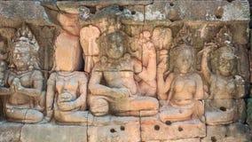 Πεζούλι των ανακουφίσεων Bas βασιλιάδων λεπρών στοκ εικόνες