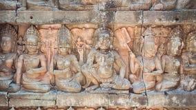 Πεζούλι των ανακουφίσεων Bas βασιλιάδων λεπρών στοκ εικόνα με δικαίωμα ελεύθερης χρήσης
