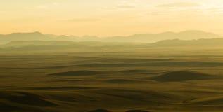 Πεδιάδες ηλιοβασιλέματος στοκ φωτογραφία