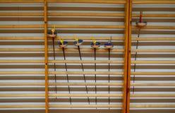 Περιφράζοντας εξοπλισμός στα τοπικά πρωταθλήματα περίφραξης στη Μαγιόρκα στοκ φωτογραφία με δικαίωμα ελεύθερης χρήσης