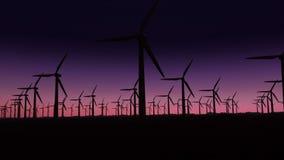 Πλάγια όψη των εγκαταστάσεων παραγωγής ενέργειας απόθεμα βίντεο
