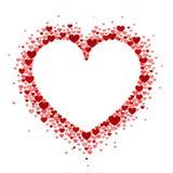 Πλαίσιο των κόκκινων καρδιών με μορφή ενός αρσενικού ελαφιού Κάρτα ημέρας του διανυσματικού βαλεντίνου ή γαμήλια πρόσκληση στοκ εικόνες
