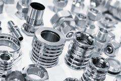 Πολλοί τύποι μετάλλων απαριθμούν το βιομηχανικό υπόβαθρο σχεδίου στοκ εικόνες