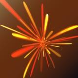 Πολύχρωμος αφηρημένος εορταστικός χαιρετισμός πυράκτωσης, πυροτεχνήματα, μαγική ενέργεια, λαμπρός ηλεκτρικός κοσμικός φλογερός τω διανυσματική απεικόνιση