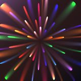 Πολύχρωμος αφηρημένος εορταστικός χαιρετισμός πυράκτωσης, πυροτεχνήματα, μαγική ενέργεια, λαμπρός ηλεκτρικός κοσμικός φλογερός τω απεικόνιση αποθεμάτων