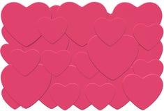 Πολύ πολλαπλάσιο που επικαλύπτει τις ρόδινες καρδιές ελεύθερη απεικόνιση δικαιώματος