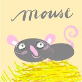 Ποντίκι σημαδιών με την απεικόνιση διάνυσμα διανυσματική απεικόνιση