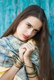 Πορτρέτο ενός αρκετά νέου έφηβη 13-16 χρονών στοκ εικόνα με δικαίωμα ελεύθερης χρήσης