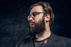 Πορτρέτο ενός βάναυσου hipster στα γυαλιά λ στοκ φωτογραφία με δικαίωμα ελεύθερης χρήσης