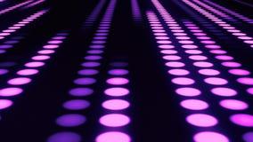 Πορφυρό υπόβαθρο κινήσεων βρόχων αιθουσών VJ κουμπιών του Sci Fi διανυσματική απεικόνιση