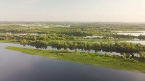 Ποταμός λιμνών Riverland απόθεμα βίντεο