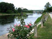 Ποταμός, μια θαυμάσια άποψη του Dordogne στοκ εικόνα