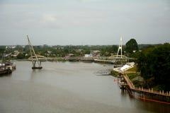 Ποταμός Sarawak, Kuching, Μαλαισία στοκ εικόνα