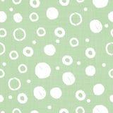 Πράσινη υφάσματος κατασκευασμένη τυπωμένη ύλη σχεδίων κύκλων άνευ ραφής στοκ εικόνα με δικαίωμα ελεύθερης χρήσης