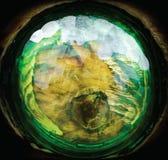 Πράσινη πλαστική inlay διακόσμηση, αφηρημένο υπόβαθρο στοκ εικόνες
