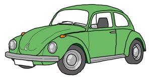 Πράσινο αναδρομικό αυτοκίνητο τέχνης γραμμών κανθάρων διανυσματική απεικόνιση