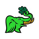 Πράσινο εικονίδιο τριφυλλιών ελεφάντων απεικόνιση αποθεμάτων