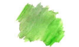 Πράσινο οργανικό υπόβαθρο Watercolor στο λευκό απεικόνιση αποθεμάτων