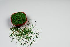 Πράσινο Mukhwas μετά από το στοματικό αναψυκτικό γεύματος στοκ εικόνα με δικαίωμα ελεύθερης χρήσης
