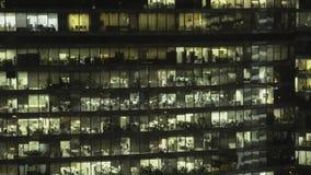 Πραγματικός - χρονικό ζουμ που πυροβολείται της πρόσοψης ουρανοξυστών μέσα κεντρικός εμπορικό κέντρο διεθνής Μόσχα απόθεμα βίντεο