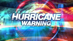 Προειδοποίηση τυφώνα - τίτλος γραφικής παράστασης TV ραδιοφωνικής μετάδοσης ελεύθερη απεικόνιση δικαιώματος