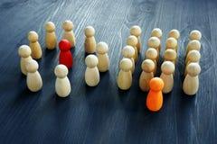 Προϊστάμενος ή ηγέτης Διαφορετικοί τύποι δομών επιχείρησης στοκ φωτογραφία