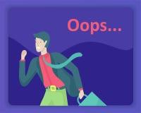 Προσγειωμένος απεικόνιση σελίδων λάθους προτύπων σελίδων με τους χαρακτήρες ανθρώπων βρήκε όχι τη σελίδα Διανυσματική απεικόνιση  διανυσματική απεικόνιση