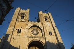 Πρόσοψη καθεδρικών ναών της Λισσαβώνας, Πορτογαλία στοκ εικόνες