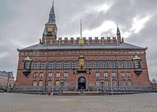 Πρόσοψη της αίθουσας πόλεων της Κοπεγχάγης στη Δανία στοκ φωτογραφία με δικαίωμα ελεύθερης χρήσης