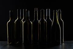 Πρότυπο μπουκαλιών κρασιού Μπροστινή όψη στοκ εικόνες