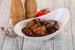 Πρόχειρο φαγητό Eggpant - ιμάμης bayaldy στοκ εικόνα