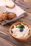 πρόωρο πρόγευμα - τυρί cattage στοκ φωτογραφίες με δικαίωμα ελεύθερης χρήσης