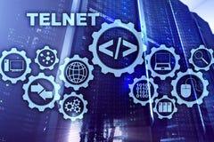 Πρωτόκολλο δικτύων τηλετύπων Εικονικός τελικός πελάτης Telnet Έννοια Διαδικτύου και δικτύων Telnet ελεύθερη απεικόνιση δικαιώματος