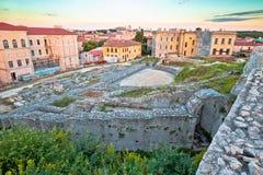 Πόλη Pula της παλαιάς ρωμαϊκής άποψης καταστροφών θεάτρων στοκ εικόνες με δικαίωμα ελεύθερης χρήσης