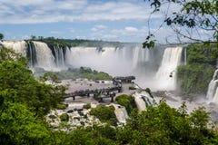 Πτώσεις Iguazu, τεράστιοι καταρράκτες, Βραζιλία στοκ εικόνα