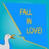 Πτώση γραψίματος κειμένων γραφής ερωτευμένη Έννοια που σημαίνει αισθαμένος τις συγκινήσεις αγάπης για κάποιο άλλο ευτυχία Roanaly διανυσματική απεικόνιση