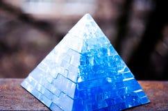 Πυραμίδα παιχνιδιών Πυραμίδων εκπαιδευτικά παιχνίδια γρίφων γρίφων τρισδιάστατα Όμορφα εξαρτήματα στοκ εικόνες
