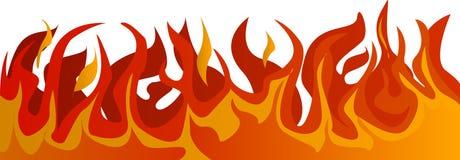 Πυρκαγιά στο διαφανές υπόβαθρο ελεύθερη απεικόνιση δικαιώματος