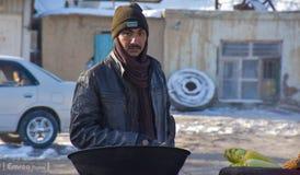 Πωλητής καλαμποκιού στοκ εικόνα με δικαίωμα ελεύθερης χρήσης