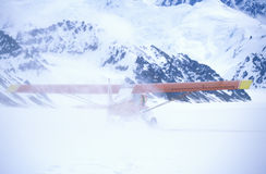 ï ¿ ½ Cubï ¿ ½ dudziarza krzaka Super samolot na lodowu w St Elias parku narodowym i prezerwie, Wrangell góry, Wrangell, Alaska Fotografia Royalty Free
