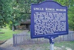 ï ¿ ½ wuja Remus Museumï ¿ ½ w Eatonton jest miastem rodzinnym Joel Chandler Harris, autor Wujeczne Remus opowieści, Eatonton, Gr Zdjęcie Stock