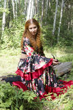 � beautiful ginger-haired girl Stock Photo