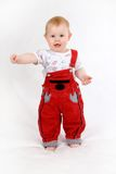 Нарру baby. Happy smiling baby 11 month old standing Stock Image