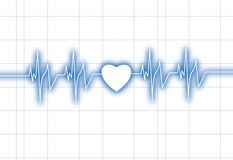 �eartbeat graph Royalty Free Stock Photo