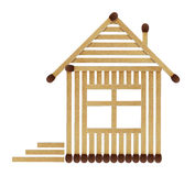 �ouse from matches Royalty Free Stock Images
