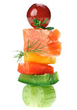 Сanape with salmon fish, celery, dill twig Stock Photography