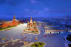Сardboard model of Red Square in Moscow Royalty Free Stock Images